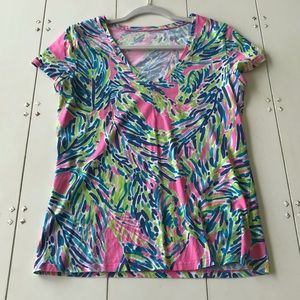 Lilly Pulitzer Michelle Print Short Sleeve Top